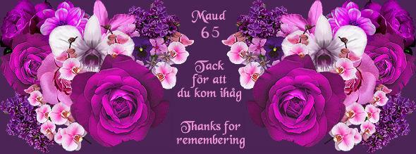 jättestort grattis Maud Dickson födelsedag jättestort grattis